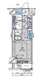 メインステージ横濱伊勢佐木Ⅲ9階Fの間取り画像