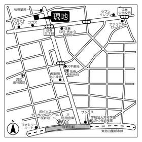 桜新町駅 徒歩10分案内図