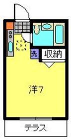 ピオニーガーデン1階Fの間取り画像