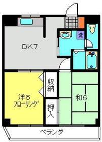 レクエルド日吉2階Fの間取り画像