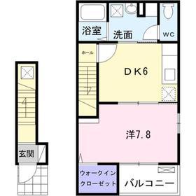 ジーク・シュヴェーアト2階Fの間取り画像