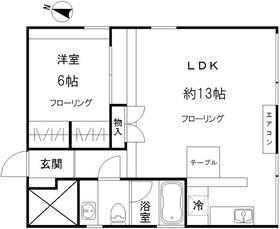 W-HOUSE1階Fの間取り画像