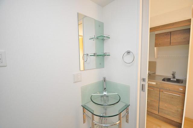 SERENITE高井田(セレニテ) 可愛いいサイズの洗面台ですが、機能性はすごいんですよ。