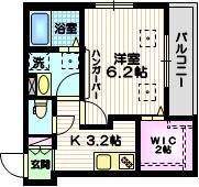 Verno Arima1階Fの間取り画像