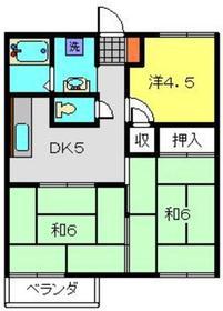 ルミエール前田2階Fの間取り画像