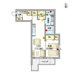 (シニア限定)メゾン インフィニティ川崎大師3階Fの間取り画像