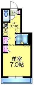 Maison SAKURA1階Fの間取り画像