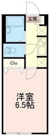 アゼストレント中野島ワン(AZESTRENT中野島1)1階Fの間取り画像