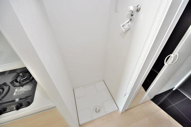 プレシオ小阪 室内洗濯機置場だと終了音が聞こえて干し忘れを防げますね。