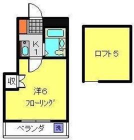 綱島駅 徒歩20分2階Fの間取り画像