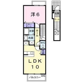 メゾン リール2階Fの間取り画像