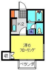 ハイツTAGUCHI1階Fの間取り画像