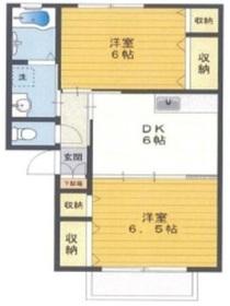 サンレイクビアンカA1階Fの間取り画像