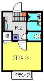 マルト弐番館1階Fの間取り画像