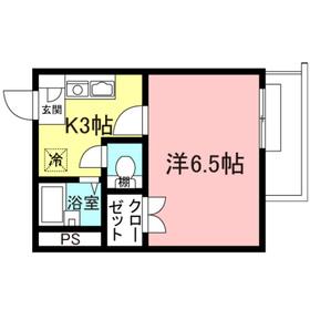 メゾン ゆい2階Fの間取り画像