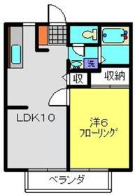 新羽駅 徒歩25分2階Fの間取り画像
