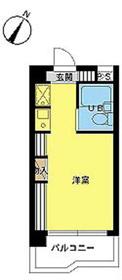 スカイコート明大前第22階Fの間取り画像