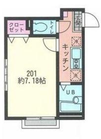 リーヴェルポート横浜WEST III2階Fの間取り画像