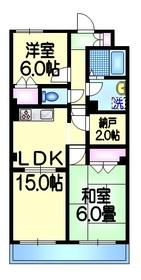 ボヌール西新井本町4階Fの間取り画像