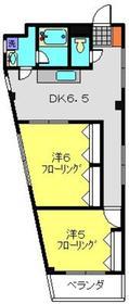ラ・メール片倉2階Fの間取り画像