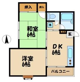 ハイム瀬里菜1階Fの間取り画像