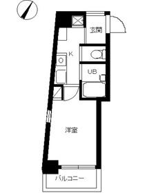スカイコート目黒壱番館9階Fの間取り画像