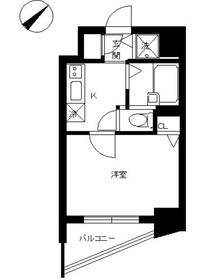 スカイコート後楽園第515階Fの間取り画像