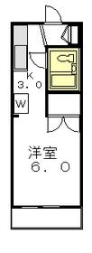 アメニティ駒沢1階Fの間取り画像