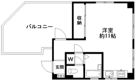 K・Tビル(今戸)5階Fの間取り画像