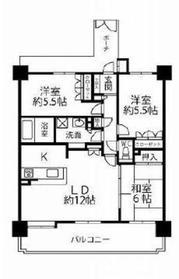 クリオ海老名六番館11階Fの間取り画像