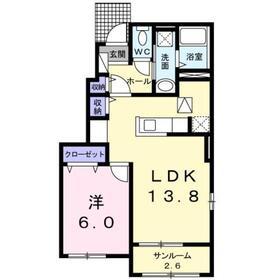 メゾンド・ルポゼ1階Fの間取り画像