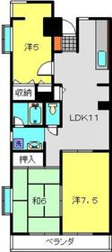 新羽駅 徒歩8分6階Fの間取り画像