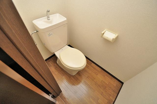 ラポルテじゅじゅ 清潔感のある爽やかなトイレ。誰もがリラックスできる空間です。