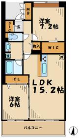 ロイヤルパークス若葉台6階Fの間取り画像