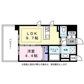 江坂駅 徒歩10分6階Fの間取り画像