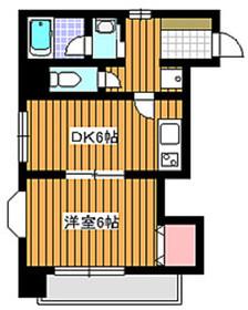 エトワールハイム4階Fの間取り画像