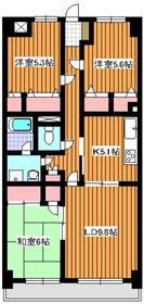 ルシオール赤塚3階Fの間取り画像