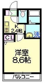 アセーロ1階Fの間取り画像