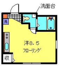 クレセール蒔田1階Fの間取り画像
