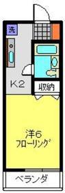 日吉駅 徒歩3分2階Fの間取り画像