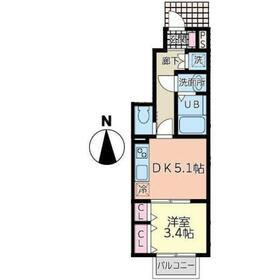 ラクラス富沢南1階Fの間取り画像