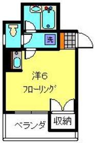 てぃだ横浜5階Fの間取り画像