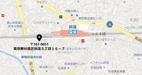荻窪駅 徒歩2分案内図