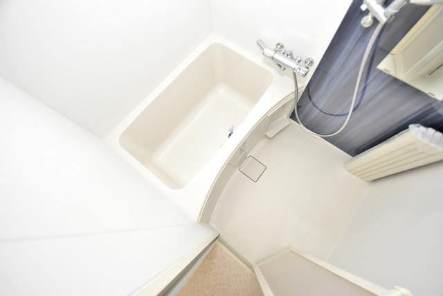 あんしん+衣摺(北棟) ちょうどいいサイズのお風呂です。お掃除も楽にできますよ。
