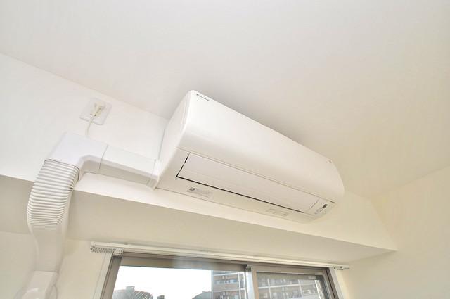エグゼ大阪城東 エアコンが最初からついているなんて、本当に助かりますね。