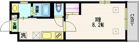 Aube de Seta2階Fの間取り画像