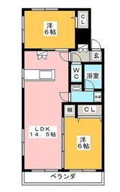 ウィステリア武蔵小杉A3階Fの間取り画像