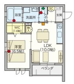 へーベルVillage稲田堤・Rio Village2階Fの間取り画像