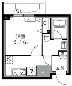 ロックス生田【LOC'S IKUTA】2階Fの間取り画像