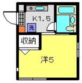 横浜駅 バス31分「釜台住宅第2」徒歩1分1階Fの間取り画像